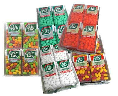 2 Boxes of Tic Tac Big Packs - 24 Total Packs, 9 Total flavors to choose from !