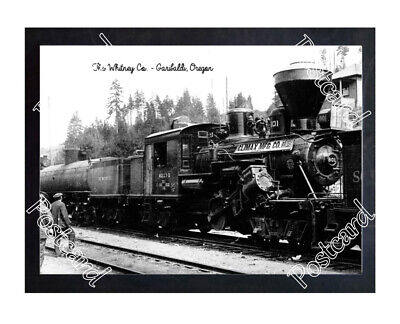 Historic The Whitney Co. - Garibaldi, Oregon Train Postcard