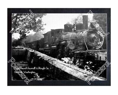 Historic Puget Sound Sawmill & Shingle Co. - Concrete, Wa. Train Postcard