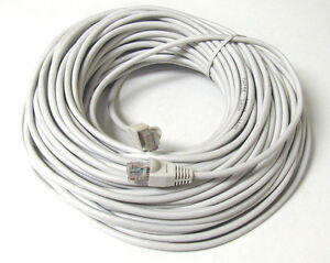 50FT RJ45 CAT5 CAT5E ETHERNET LAN NETWORK D Grey CABLE