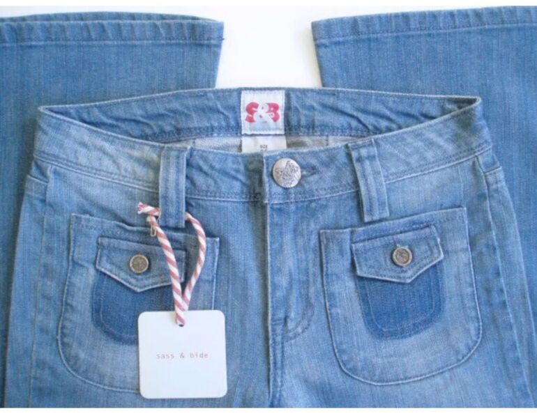 Sass Bide Slinger Flare Leg Jeans Nwt Woodlandhideawaypark Co Uk