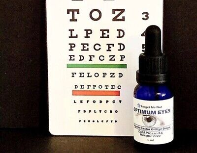 Organic CASTOR OIL EYEDROPS/Dry Eyes/ Cataracts/Cold Pressed/Ships FREE