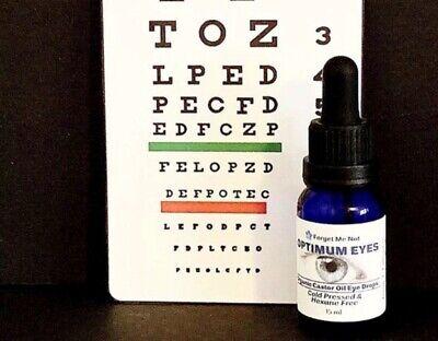ORGANIC Castor Oil Eye Drops/FREE SHIPPING/Hexane Free/Pharmaceutical Grade