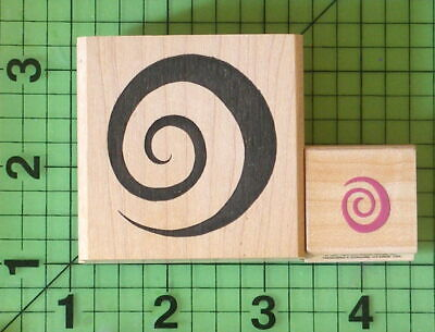 Lot Of 2 Spiral Rubber Stamps By Denami Design And Hero Arts - $5.95