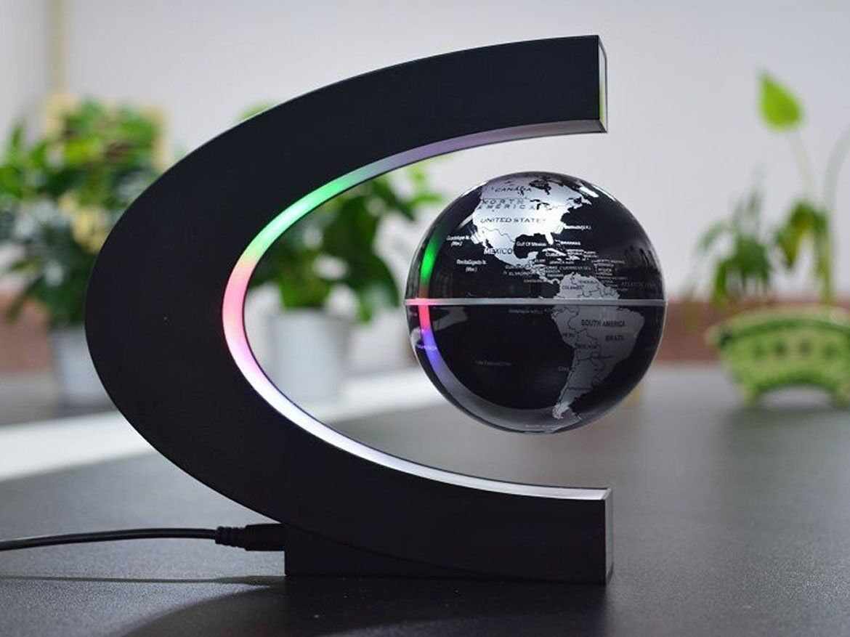 Senders Floating Globe with LED Lights C Shape Magnetic Levi