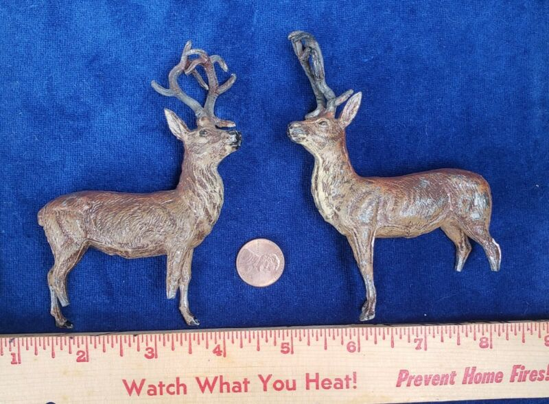 Antique German Metal Lead PUTZ Reindeer - Christmas Germany Deer - As IS