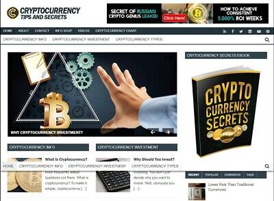 Established Cryptocurrency Turnkey Website Business For Sale Bonusearn 170h