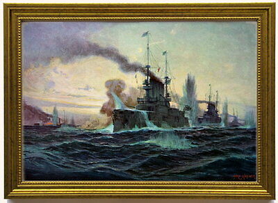 Scharnhorst, Gneisenau, Nürnberg und Leipzig, 1914 . Kunstdruck, edel gerahmt