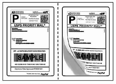 Perforated Round Corner 1000 Half Sheet 7.5 X 5.125 Shipping Labels Luckyleo