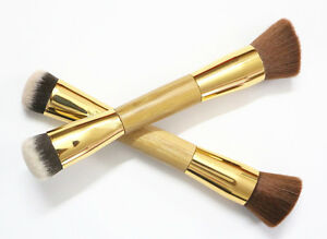 Double-Sided Eco-friendly Bamboo Handle Foundation/Buffing/Contour Brush F-021