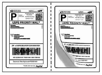 Perforated Round corner 1000 Half Sheet Self Adhesive 7.5 X 5.125 Shipping Label