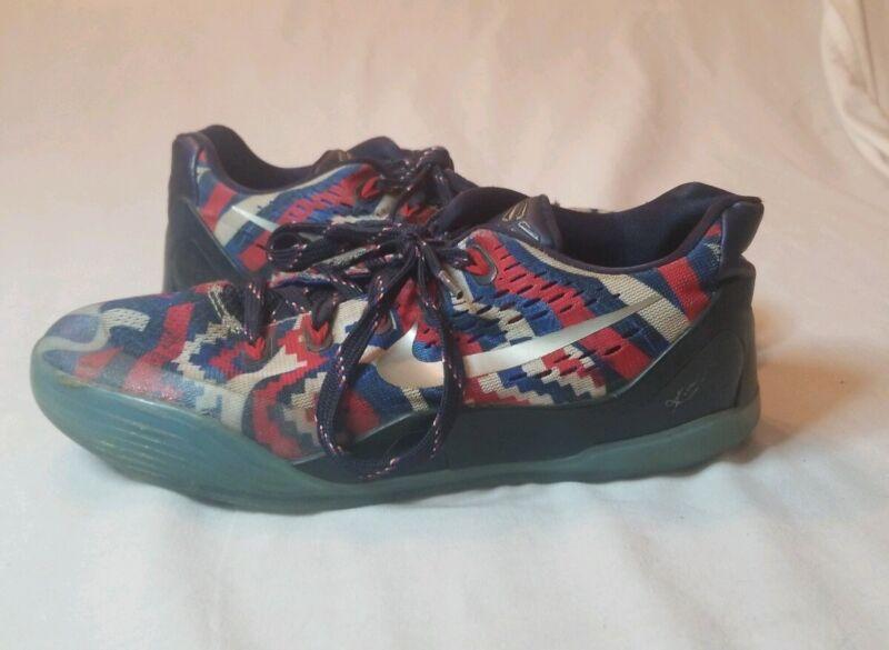 Trashed Nike Mens Kobe Shoes Blue Red White Zig-Zags Size 6?