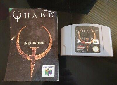 Quake Nintendo 64 N64 with instruction manual