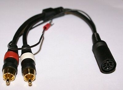 Bang & Olufsen Turntable Adapter DIN to RCA Gold Male Audiophile type Cable  -