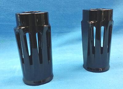Custom Cut Fork Can Slider Cover Cow Bell Stock Length For Harley 86-13](Custom Cowbells)