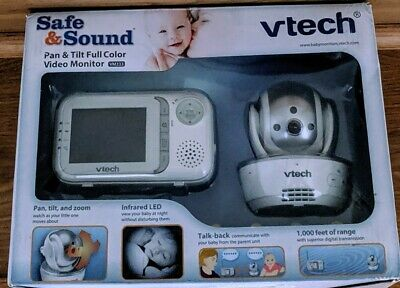 VTech VM333 Safe & Sound Video Baby Monitor with Night Vision, Pan/Tilt/Zoom