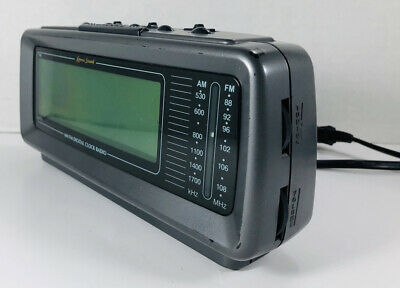 Vintage Lenoxx Sound Model CR-776 AM/FM Alarm Clock Radio Large LED Display