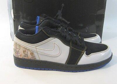 Nike Air Jordan 1hat Low 338145 001 Black White Patent Size 8.5 Jordan White Hat