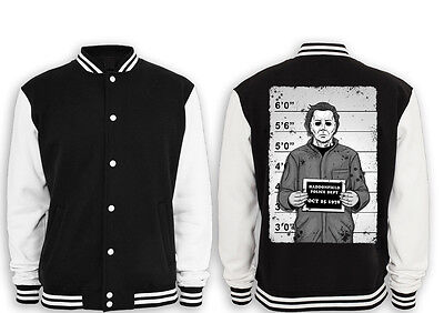 Myers Mugshot Collegejacke Halloween,Movie,Kult,Fun,Michael,Horror,Freddy,Jason