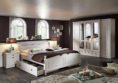 Schlafzimmer komplett Kiefer massiv weiß Holz Landhaus NEU OVP!!!