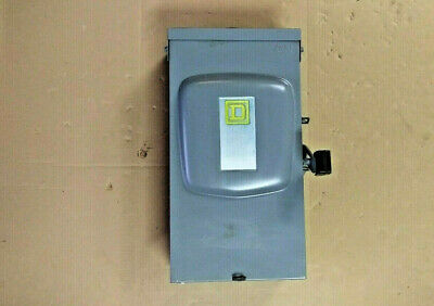 Square D D323nrb 100 Amp Fusible 240 Vac General Duty Safety Switch Nema 3r