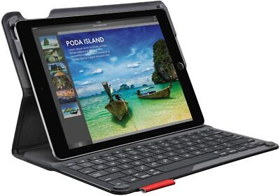 Logitech Type+ Protective Case with Integrated Keyboard for iPad Air 2 Carbon Bl