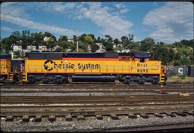 Original Slide - Chessie System SD50 B&O 8595 New, Brunswick, MD - 1984