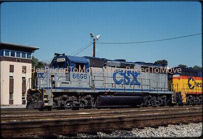 Orig. Slide - CSX GP40 B&O/CSXT 6606, Brunswick, MD - 1990