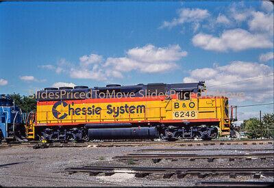 Original Slide - Chessie System GP40-2 B&O 6248 (CSX Re-#), Hagerstwon, MD 1987