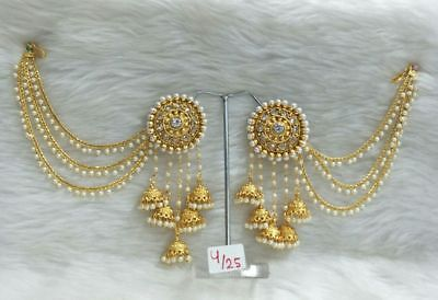 Indian Gold Jewelry - Indian Bollywood Designer Gold Plated Jhumka Earrings Ethnic Women Jewelry