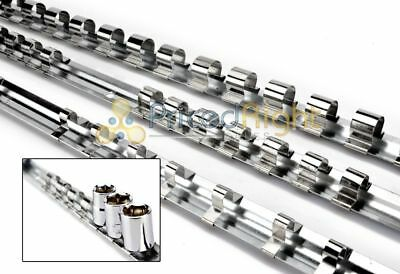 "Set 1/4"" 3/8"" 1/2"" Drive Socket Tray Holder Organizer Standard Wall Bench Mount"