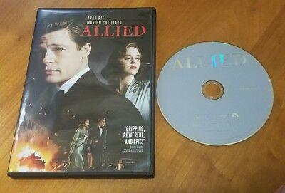 Allied  Dvd  2017  Brad Pitt Marion Cotillard Robert Zemeckis Film Movie