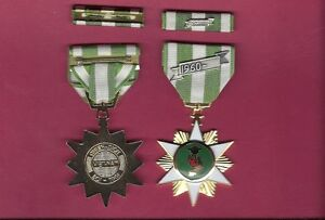 RVN Vietnam Campaign medal with ribbon bar with 60 device 2nd Version
