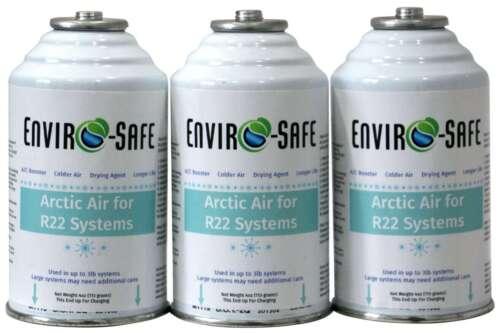 R22, R-22, R 22 Refrigerant support, Artic Air, Envirosafe, (3) 4 oz cans