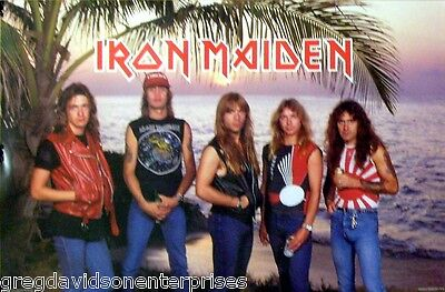 Iron Maiden 23x35 Palm Trees Sunset Group Poster 1984