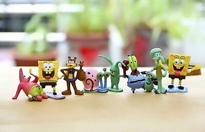 Sponge Bob Figures | 8 Cake Topper Playset | High Quality Fast Shipping - Spongebob Cake Toppers