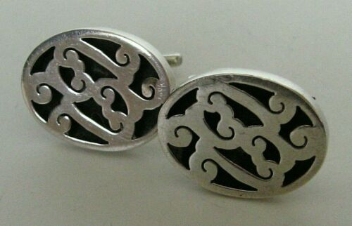 VINTAGE MEXICO STERLING SILVER CUFFLINKS MID CENTURY  7 grams