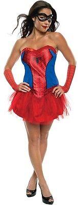 Ladies Sexy Spiderman Spidergirl Super Hero Tutu Fancy - Sexy Spiderman Outfit