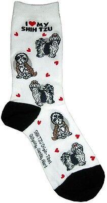 I Love My Shih Tzu (631102) Women Socks Cotton New Gift Fun Unique Fashion