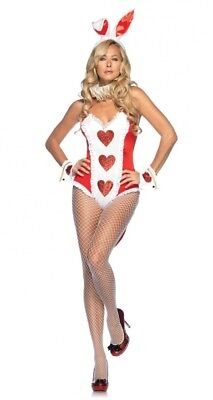 White Rabbit Alice in Wonderland Red Bunny Leg Avenue S/M Halloween Costume (White Rabbit Halloween Costume Alice Wonderland)