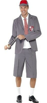 Mens Naughty School Boy Uniform Stag Do Geek Nerd Fancy Dress Costume Outfit M-L](Naughty School Boy Costume)