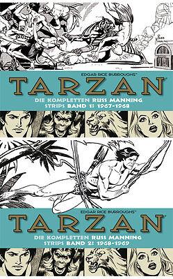 Tarzan, BOCOLA Verlag, Die kompletten Russ Manning Strips, Band 1 & 2