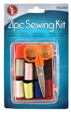 21 Piece Sewing Kit Travel With Box Emergency Travel office sewing kit