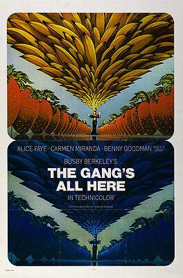 THE GANG'S ALL HERE Movie POSTER 27x40 B Alice Faye Carmen Miranda Phil Baker