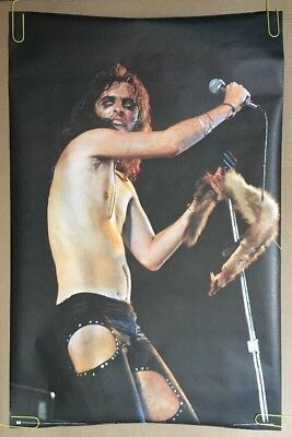 Vintage Poster Alice Cooper 1972 Pace Posters Photograph Concert Live 70's