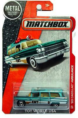 2016 Matchbox #88 MBX Heroic Rescue '63 Cadillac Ambulance