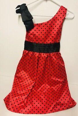 Red Black Polka Dot Girls 14 Dress Spring   DISORDERLY KIDS Ladybug Easter Party