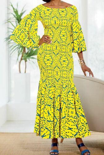 size Large Kehlani Smocked Maxi Dress from Ashro new