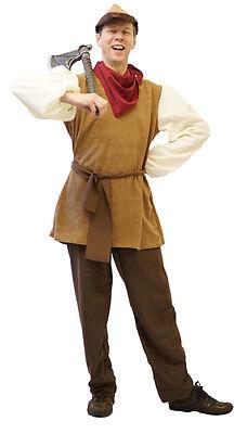 Panto Hero/Villain Snow White HUNTSMAN - PEASANT Fancy Dress Costume sml-XXXXL ()
