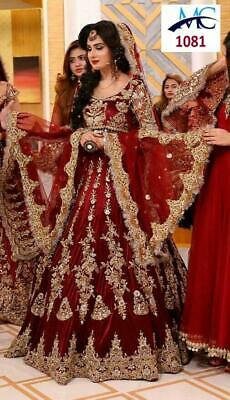 Boda Lehenga Choli Boda India Lengha Chunri Falda Top Set Sari Vestido